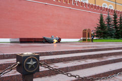 Eternal Flame at the Kremlin wall Royalty Free Stock Image