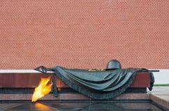 Eternal Flame at the Kremlin wall Stock Photos