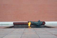 Eternal Flame at Kremlin wall Royalty Free Stock Photography