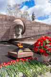 The eternal flame at the memorial complex in Samara, Russia Royalty Free Stock Photography