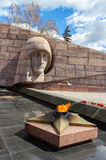 The eternal flame at the memorial complex in Samara, Russia Royalty Free Stock Image