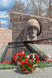 The eternal flame at the memorial complex in Samara, Russia Royalty Free Stock Photos