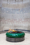 Eternal flame. Memorial to the victims of the World War II in Ferhadija street in Sarajevo, Bosnia and Herzegovina stock photography