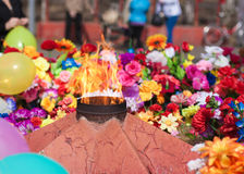 The Eternal Flame. Memorializing Losses During The Fight Against Fascism Stock Image