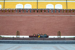 Eternal flame in memory of the lost soldiers Royalty Free Stock Image
