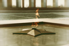 Eternal flame in memory of the Victory in the Great Patriotic War Royalty Free Stock Photos