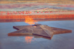 Eternal flame in memory of the Victory in the Great Patriotic War Royalty Free Stock Photography