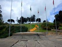 The Eternal Flame monument at Puente de Boyaca Royalty Free Stock Image