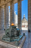 Eternal flame at the Monumento a la Bandera. Stock Image