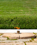 Eternal Flame next to the John F. Kennedy grave at Arlington Nat Stock Photography