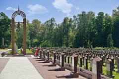 Eternal flame and obelisks at Military Memorial Royalty Free Stock Photos