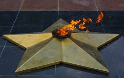 Eternal flame Stock Photo