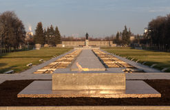 Eternal Flame Piskaroyvskoye Memorial Cemetery. Saint Petersburg. Russia. stock photography