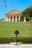 The Eternal Flame and the Robert E. Lee house at Arlington Cemetery Stock Images