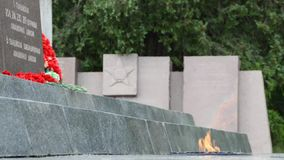 Eternal Flame of the Sapun-Mountain Memorial Complex stock video footage