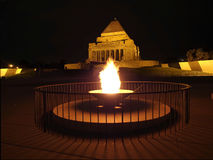 Eternal Flame at Shrine of Remembrance Royalty Free Stock Photos
