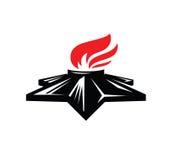 Eternal flame symbol Royalty Free Stock Photos