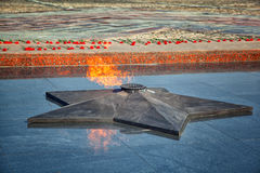 Eternal Flame - symbol of victory in the Second World War Stock Photos