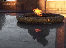 Eternal Flame symbol victory in World War II. Eternal Flame symbol of victory in World War II, eternal memory to soldiers royalty free stock photo