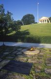 Eternal Flame at the tomb of President John F. Kennedy, Arlington Cemetery, Washington, D.C. Stock Photography