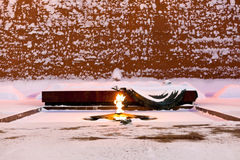 Eternal Flame of Tomb of the Unknown Soldier, Moscow Stock Images