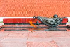 Eternal Flame and Tomb Of The Unknown Soldier in Moscow Stock Images