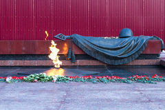 Eternal Flame. Tomb Of The Unknown Soldier to Moscow Royalty Free Stock Photography