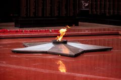 The Eternal Flame. On a Victory Day as a symbol of memory of dead warriors Stock Image