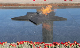 Eternal Flame at Victory Park on Poklonnaya Hill , Moscow, Russia. Royalty Free Stock Photo