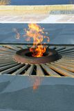 Eternal flame war memorial. Stock Photos