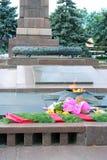 Eternal flame war memorial in Volgograd, Russia. Royalty Free Stock Photos