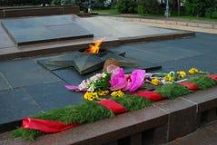 Eternal flame war memorial in Volgograd, Russia. Stock Photo