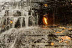Eternal Flame Waterfall in New York Royalty Free Stock Photography