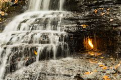 Eternal Flame Waterfall in New York Stock Image