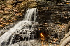 Eternal Flame Waterfall in New York Royalty Free Stock Image
