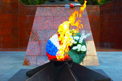 Eternal flame in Zvenigorod, Russia Stock Photo