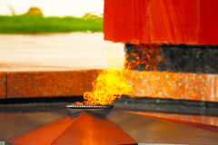 Eternal flame in Zvenigorod, Russia Stock Photography
