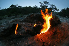 Eternal flames in Turkey Stock Photography