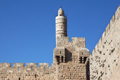 Eternal Jerusalem surrounded with walls Royalty Free Stock Image