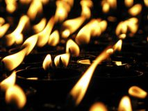 Eternal Lamps. These oil lamps are widely used in many eastern religions such as Buddhism and Hinduism Stock Photo