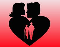 Eternal love Stock Images