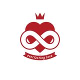 Eternal Love conceptual sign, vector symbol created with infinit Royalty Free Stock Images