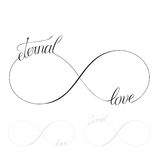 Eternal Love. Icon valentines day vector symbol Royalty Free Stock Images