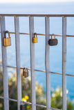 The eternal love into a padlock Stock Photography