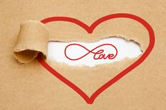 Eternal Love Torn Paper Concept Stock Photo