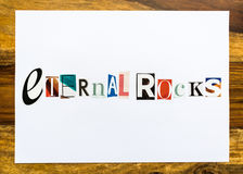 Eternal Rocks - note on desk Royalty Free Stock Photography