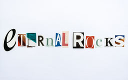 Eternal Rocks - note Stock Images