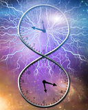 Eternal Time. Twists and loops back on itself Royalty Free Stock Image