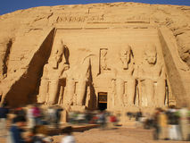 Eternal tourism of Abu Simbel Royalty Free Stock Photography