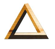 Eternal triangle in wood Royalty Free Stock Images